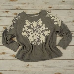 H&M Gray Sweatshirt With Applique